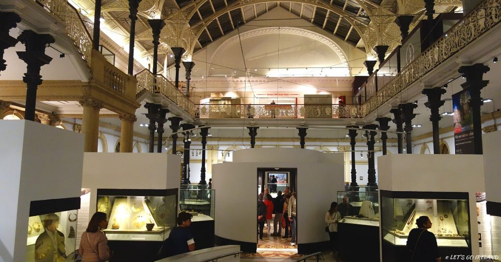 Interior of the National Museum of Ireland - Museum of Archeology, Dublin, Ireland