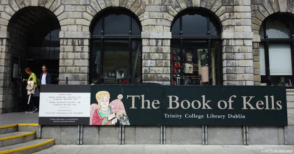 The entrance to the Book of Kells, Trinity College Dublin, Ireland