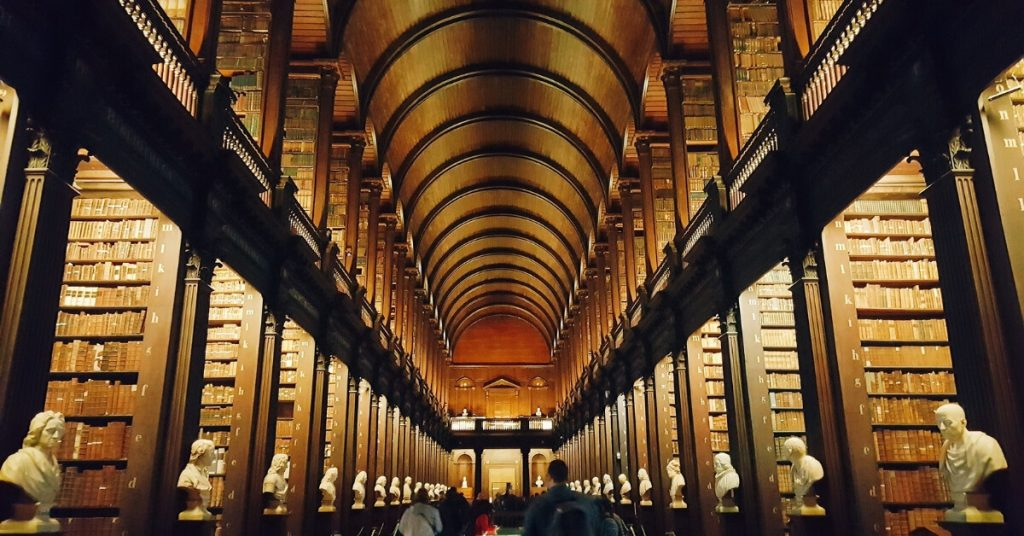The Long Room Library, Trinity College Dublin, Ireland