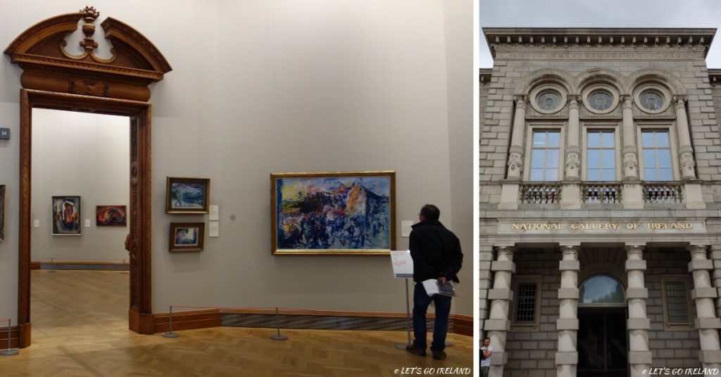 Main entrance and the Jack B. Yeats Exhibition at The National Gallery of Ireland