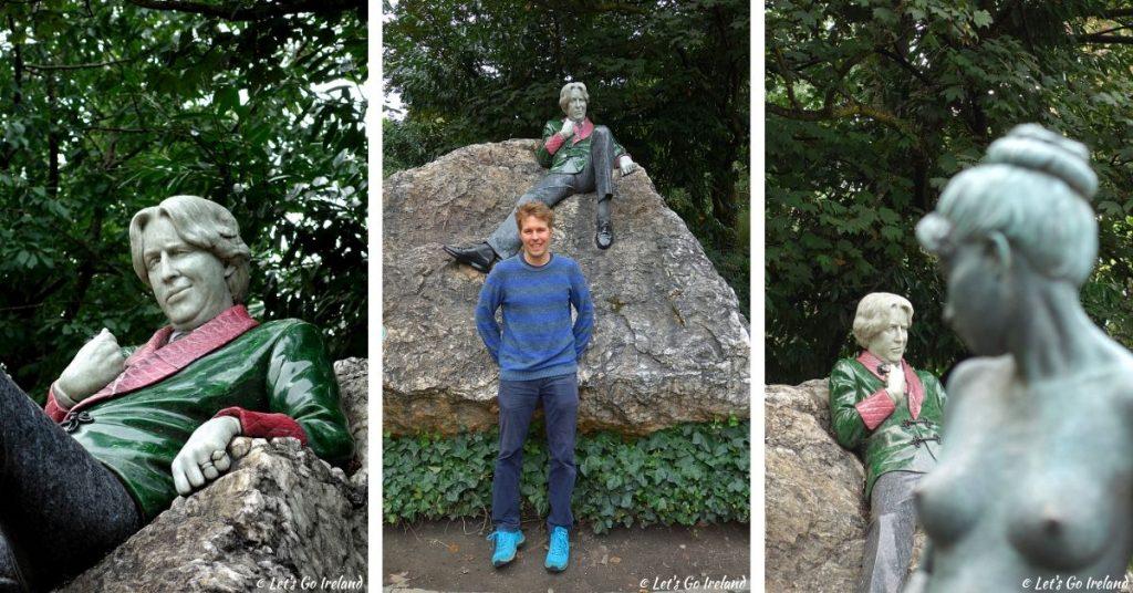 Die Oscar Wilde Statue im Merrion Square Park, Dublin, Irland
