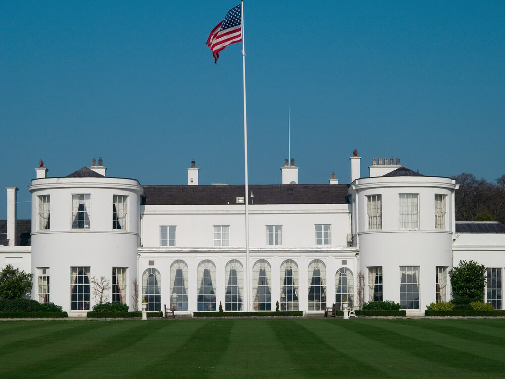 The residence of the US Ambassador to Ireland in the Phoenix Park, Dublin, Ireland