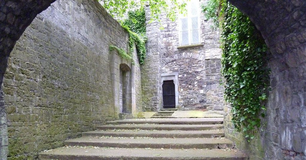 "The steps to ""Hell"" at St. Audoen's Church, Dublin Ireland"