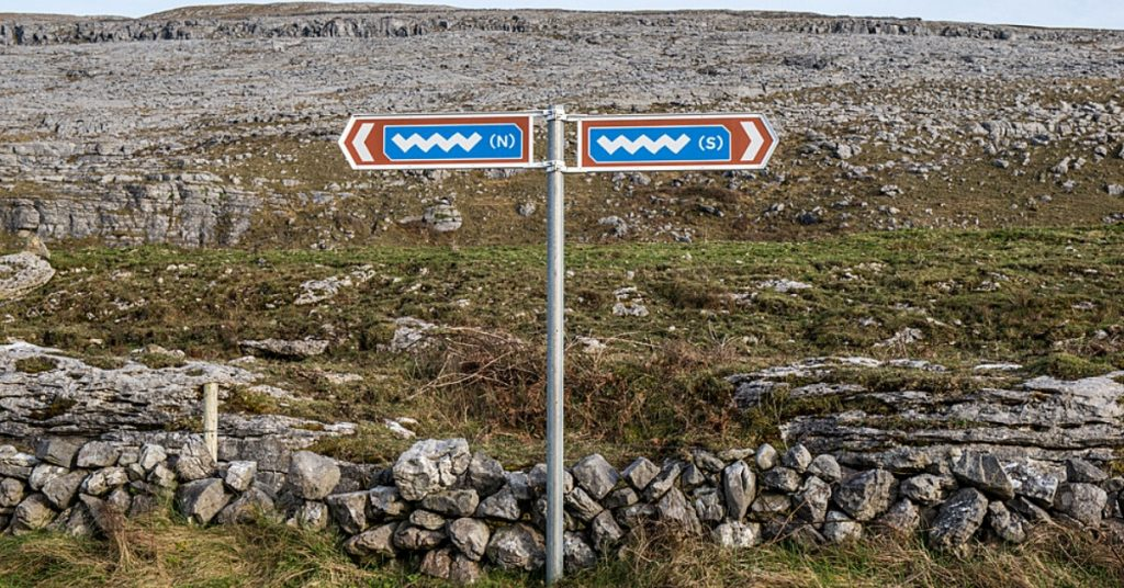 A road sign for the Wild Atlantic Way Ireland