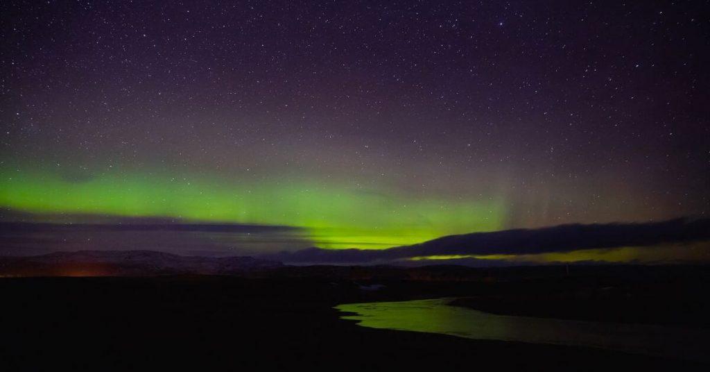 Polarlichter am Horizont