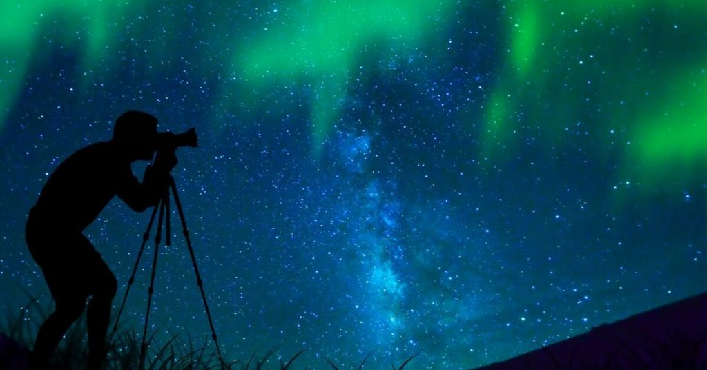 Photographer and the Northern Lights