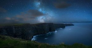 Cliffs of Moher, County Kerry, Ireland at night