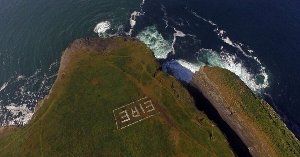 Aerial Shot of Loop Head County Clare Ireland