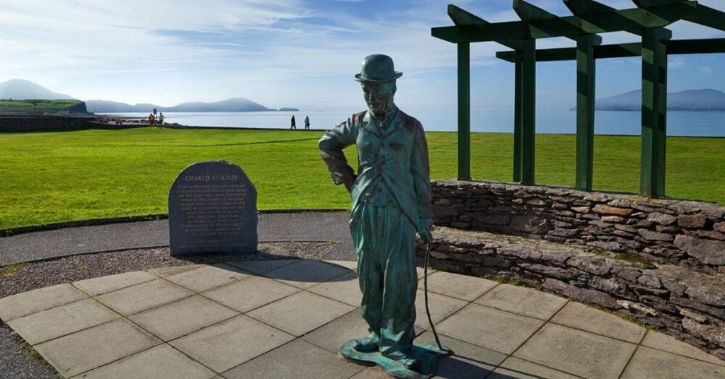 Charlie Chaplin Statue in Waterville County Kerry Ireland