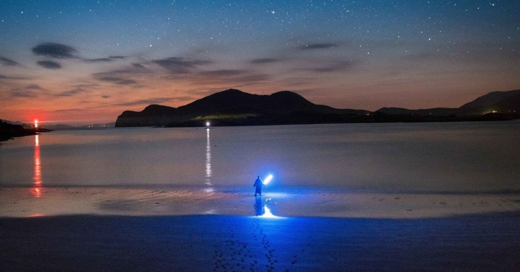 Star Wars scene at Glanleam Beach, Valentia Island, County Kerry Ireland