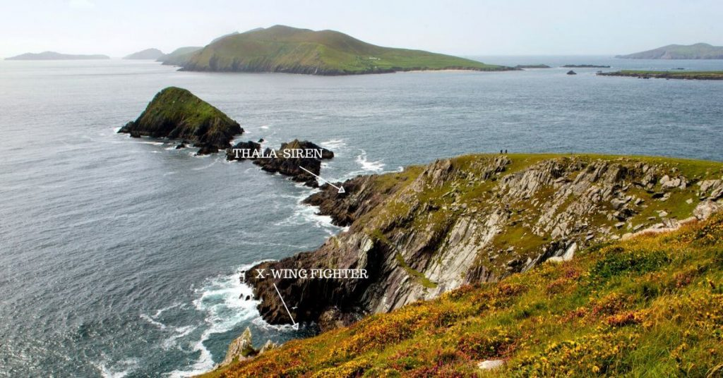 Star Wars locations at Dunmore Head County Kerry Ireland