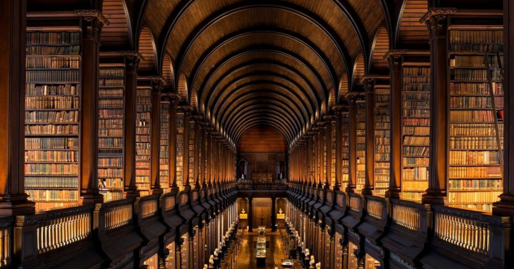 Long Room Library of Trinity College Dublin Ireland