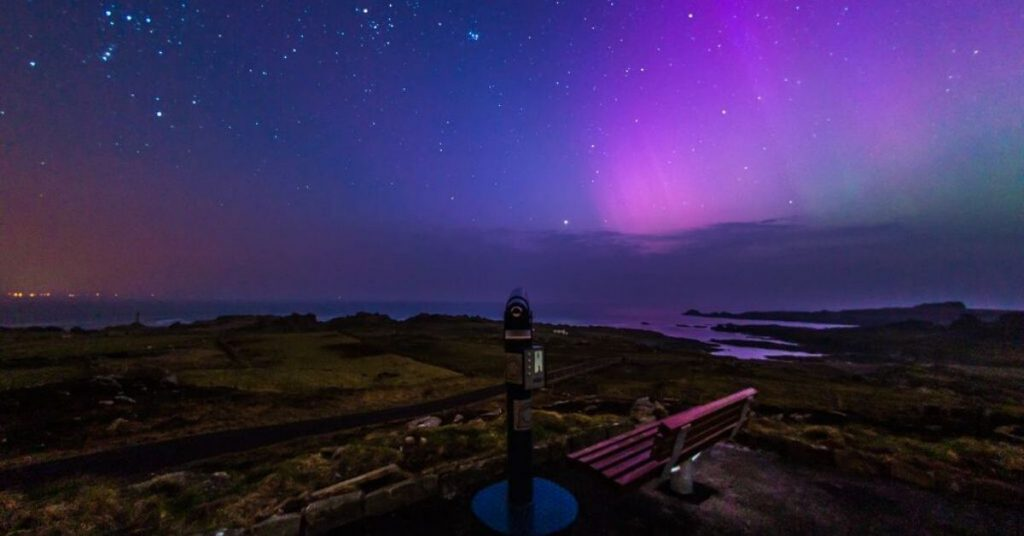 Northern Lights at Malin Head County Donegal Ireland