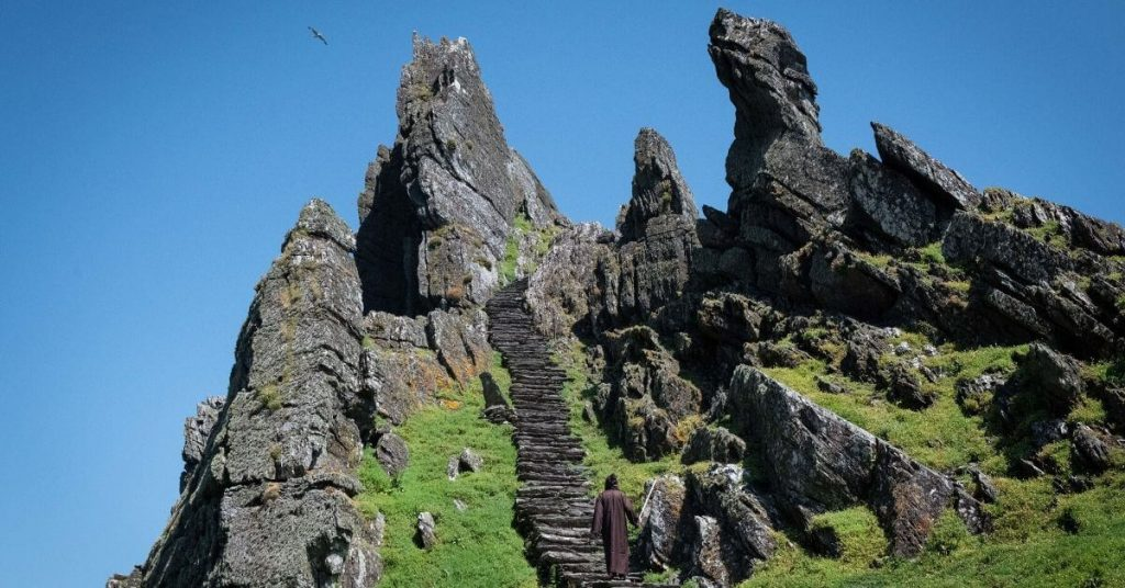 steps at Skellig Michael County Kerry Ireland