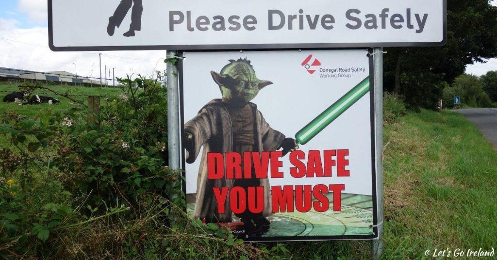 Yoda road safety sign Ireland