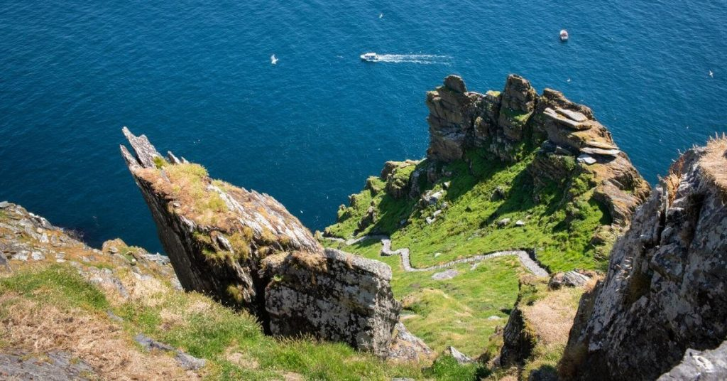 steep steps on Skellig Michael County Kerry Ireland