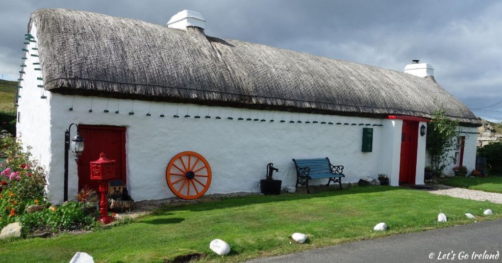 Thatched Cottage in Ballyhillin close to Malin Head County Donegal Ireland