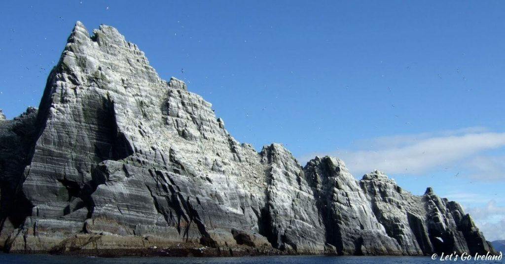 view of Skellig Michael County Kerry Ireland from the boat