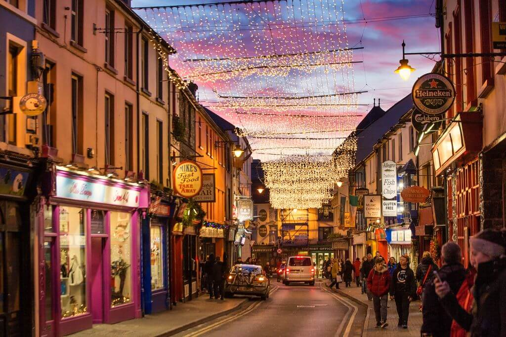 Christmas decoration in Killarney, County Kerry, Ireland