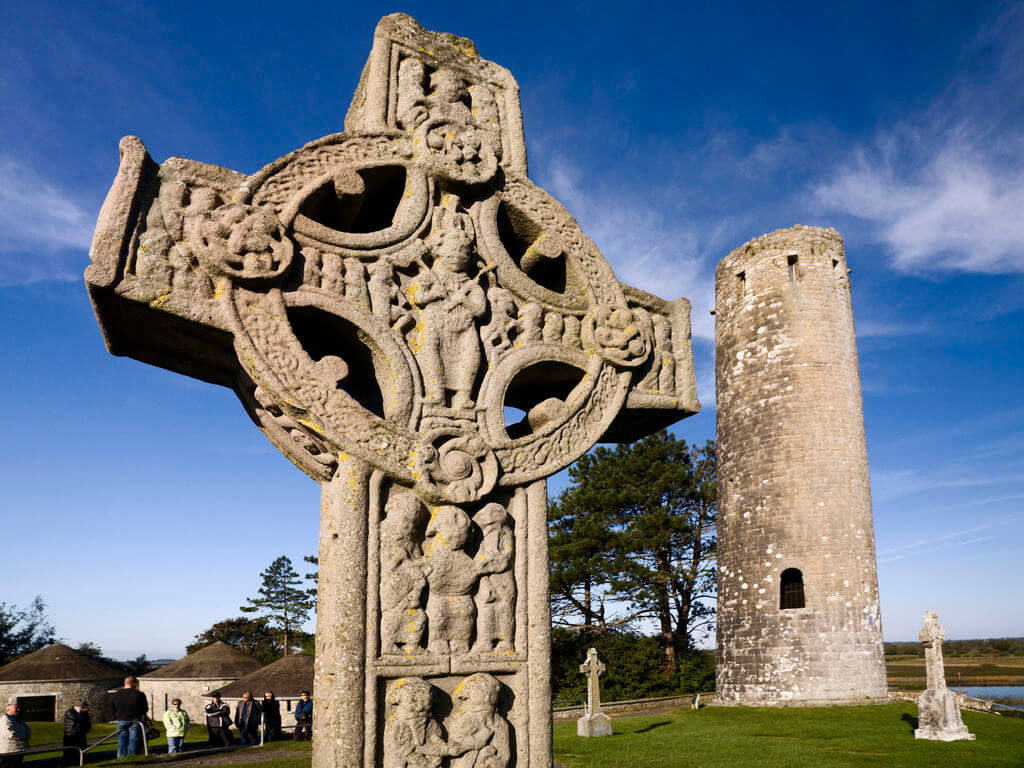 high cross in Clonmacnoise, Co. Offaly, Ireland