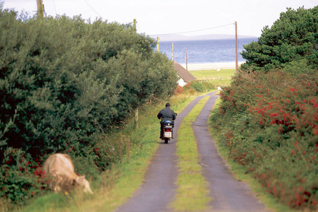 A country road on Achill Island, Ireland