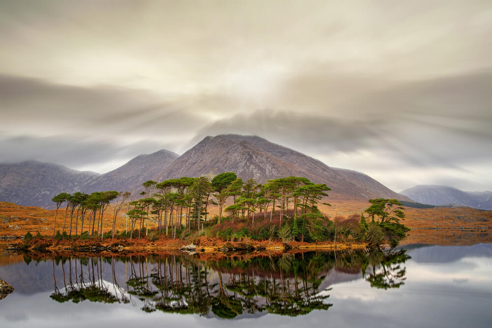 Derryclare Lake in Connemara, Ireland