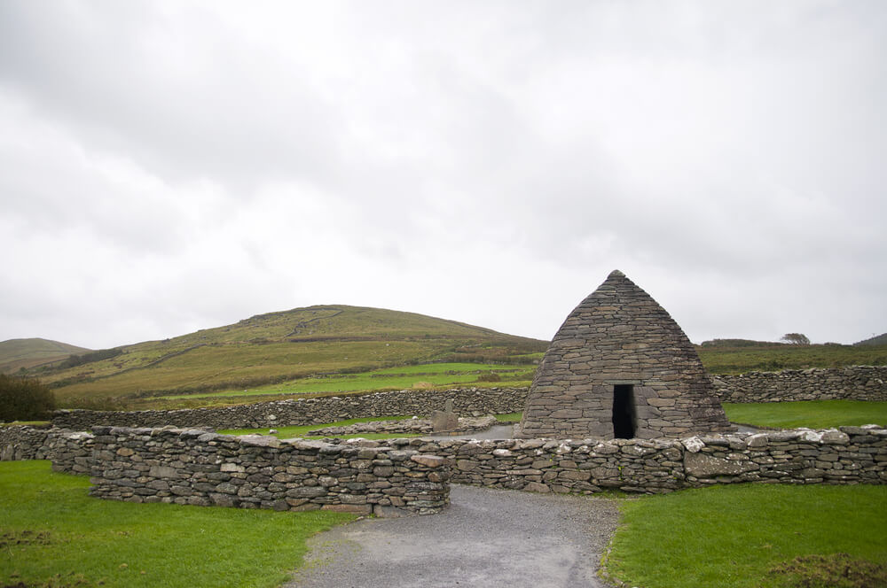 Gallarus Oratory on the Dingle Peninsula, Ireland.