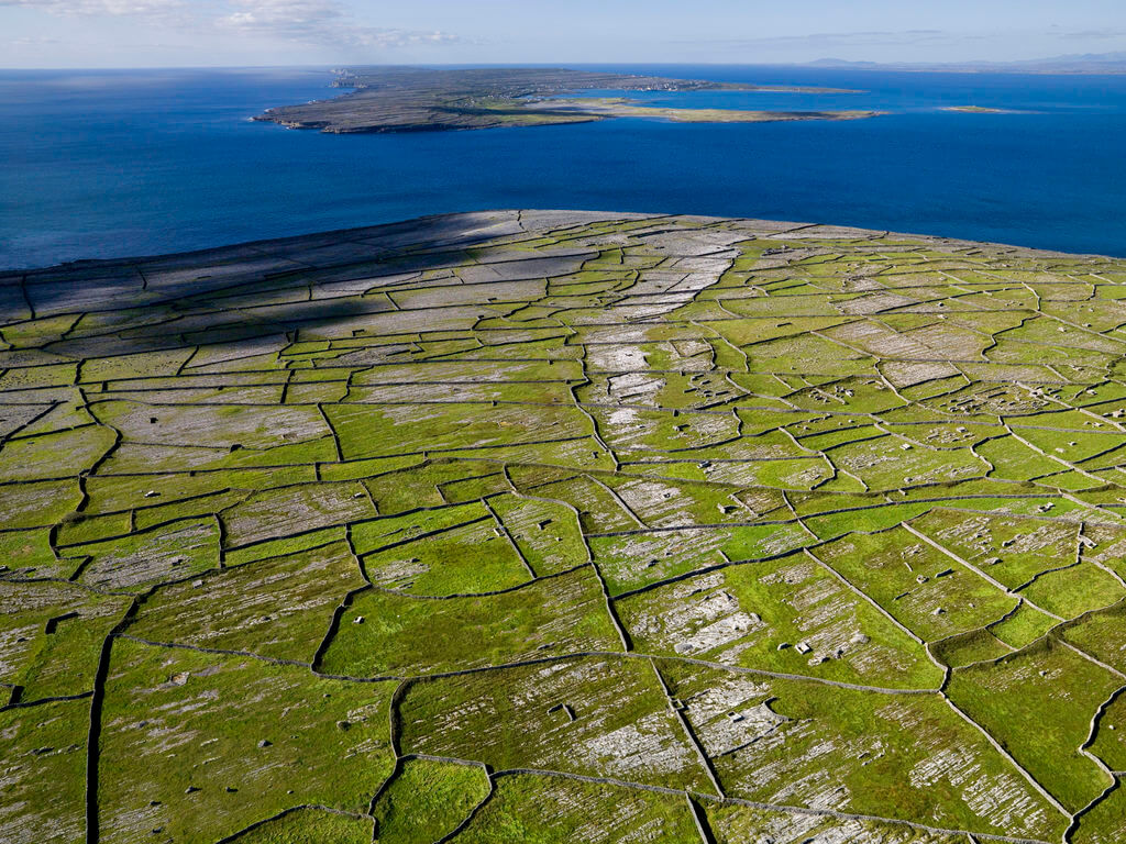 Patchwork fields on the Aran Islands, Ireland