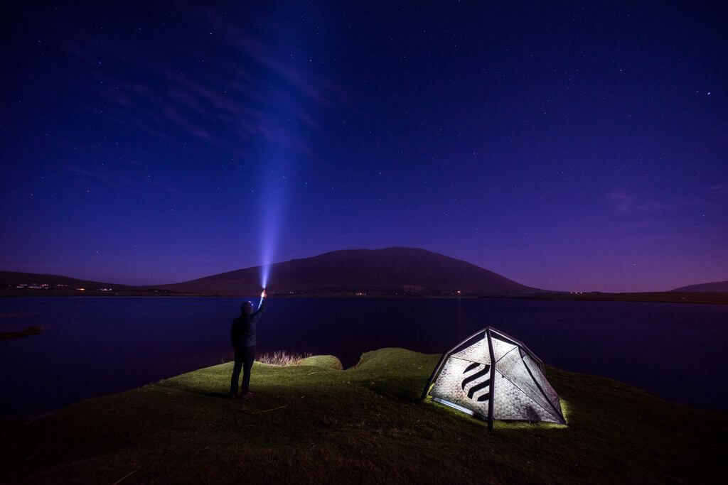 A magical camping experience with the Northern Lights in Ireland.