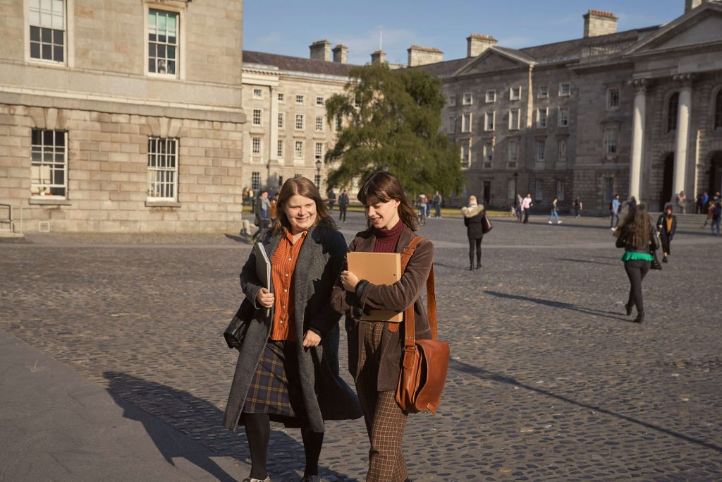Marianne and Joanna at Trinity College Dublin