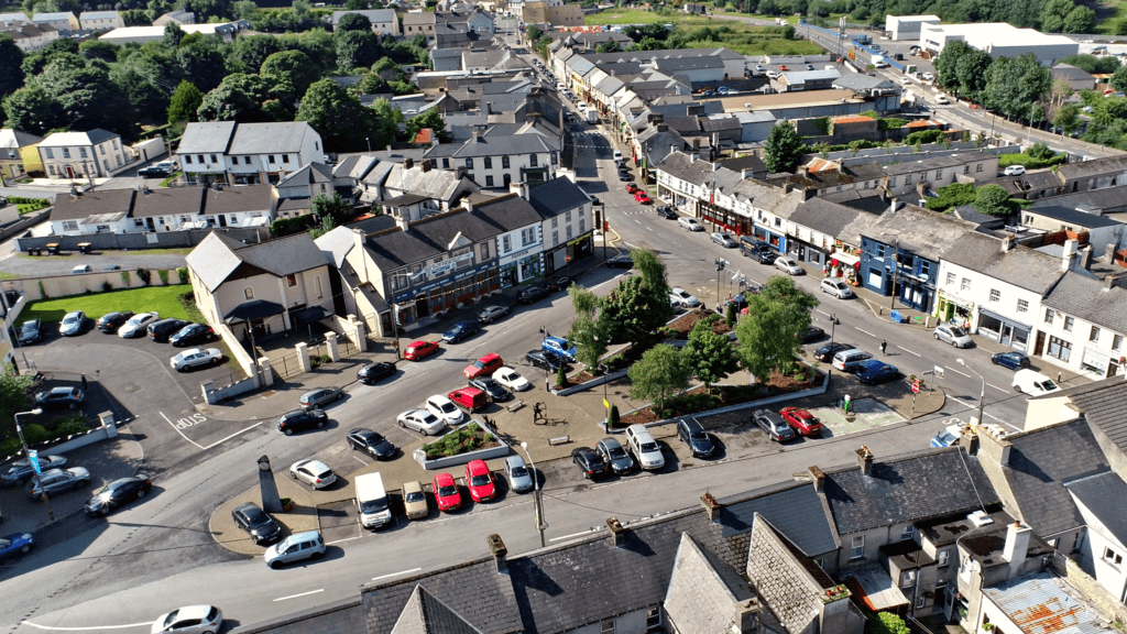 Tubbercurry Town Square from above