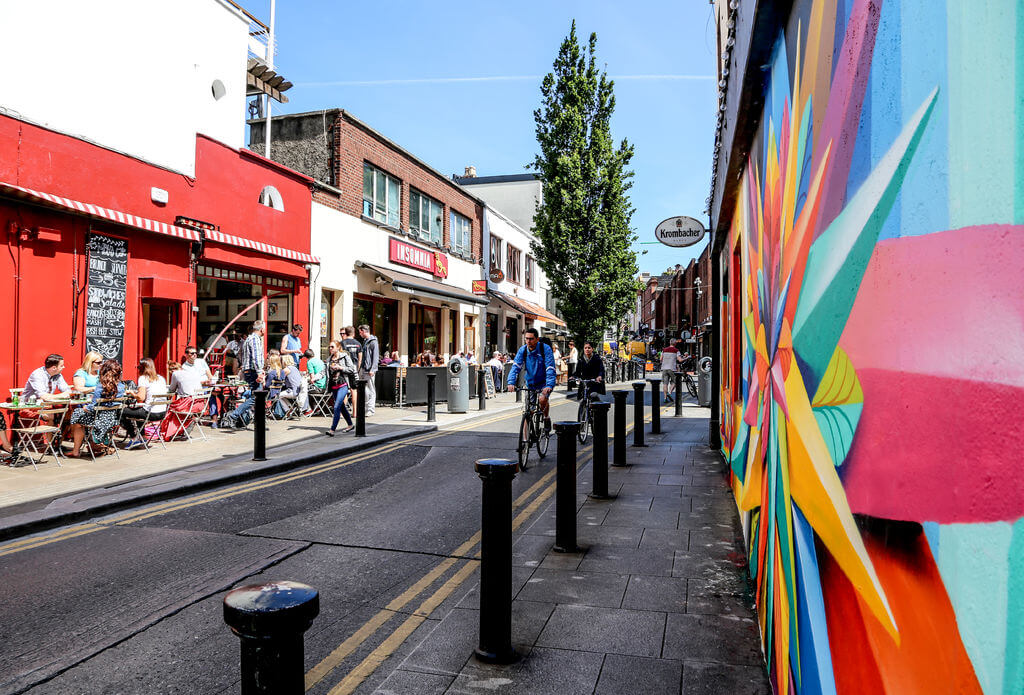 vivid street view in Dublin