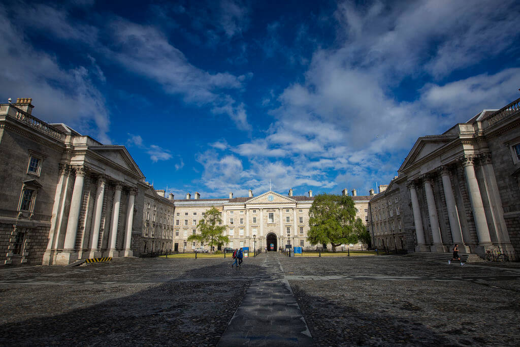 Front square of Trinity College Dublin
