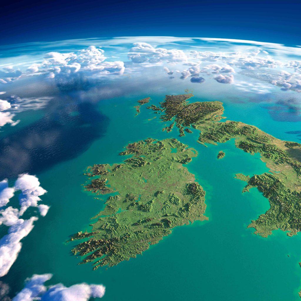 Ireland aerial shot
