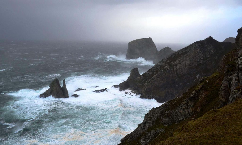 Stormy weather off the coast of Donegal, Ireland.
