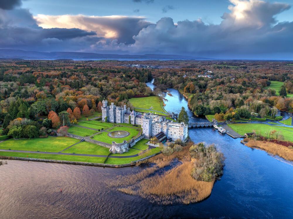 Ashford Castle in County Mayo in fall.