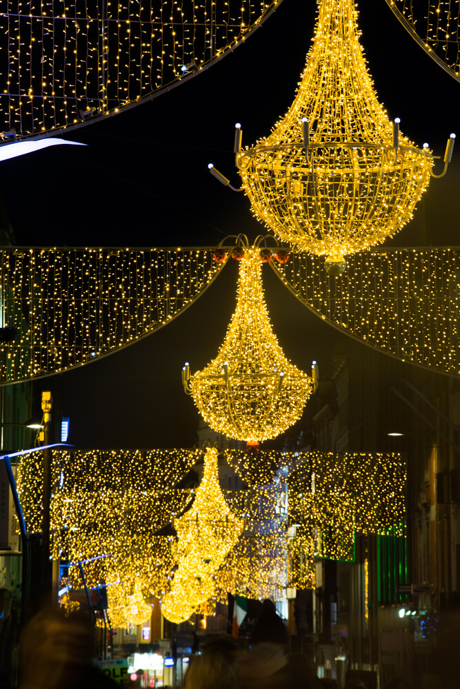 Christmas Lights in Dublin, Ireland.