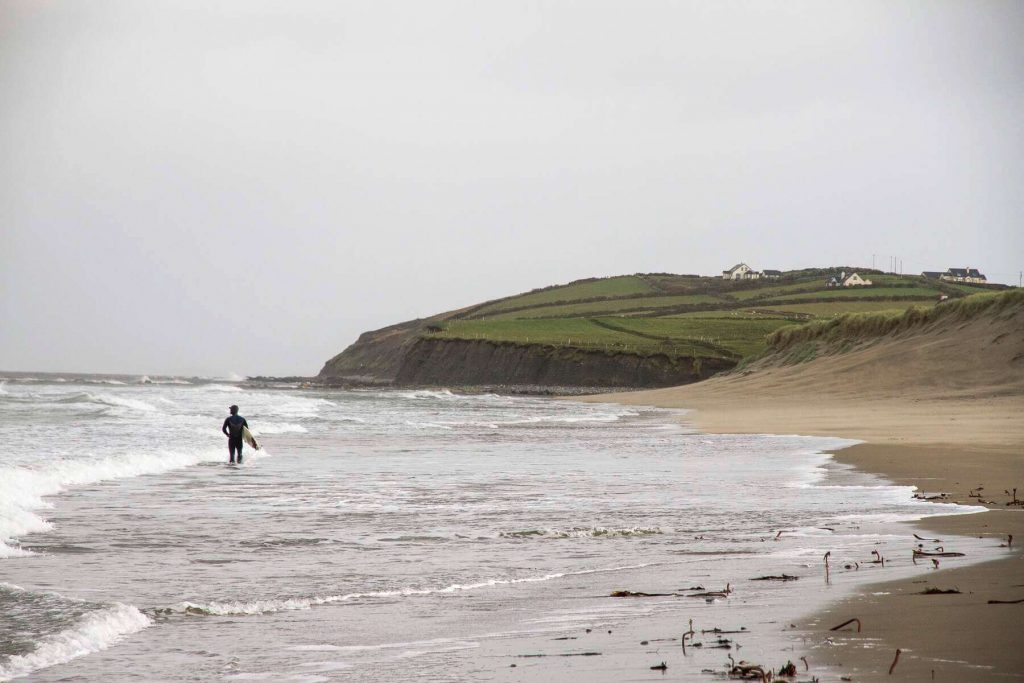Gray Skies over Carrowmore Beach in County Mayo, Ireland