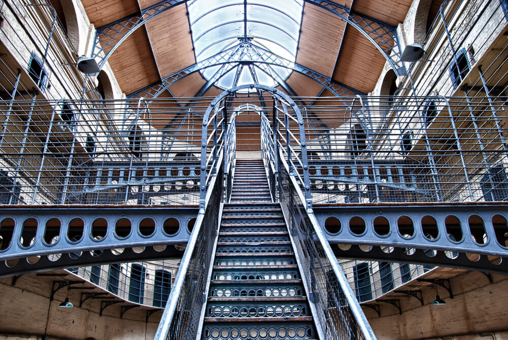 Interior of Kilmainham Gaol, Dublin, Ireland.