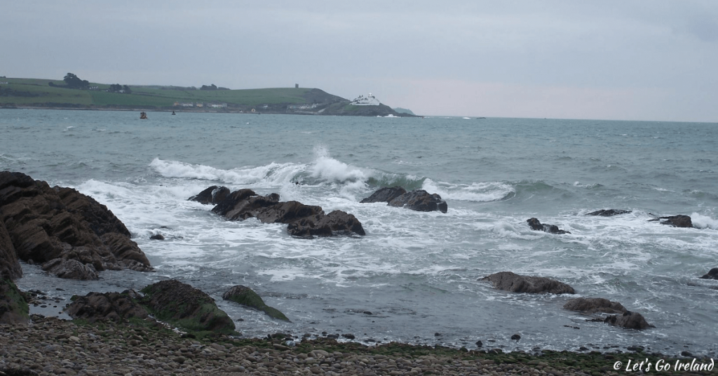 Roches Point Lighthouse marking the entrance to Cork Harbour in winter.