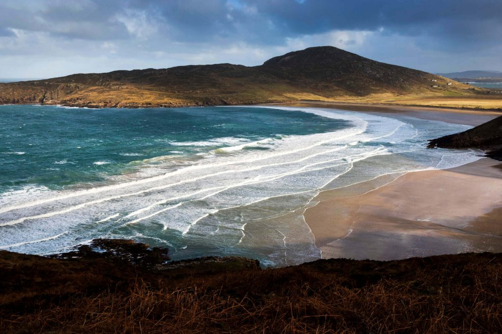 Tranarossan Bay, County Donegal, Ireland in winter