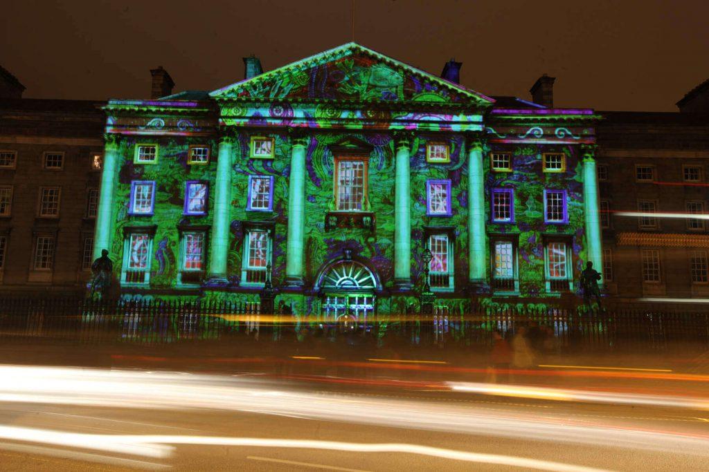 Trinity College Dublin, Ireland on New Year's Eve.