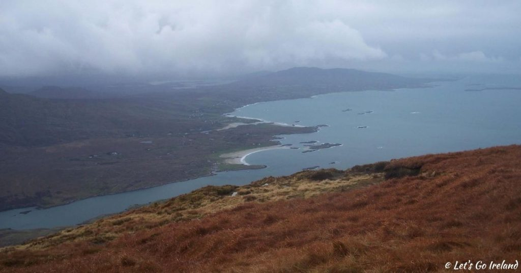 View from Mweelrea, Ireland in December.