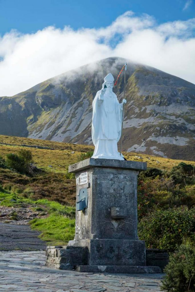 The base of Croagh Patrick In County Mayo, Ireland.