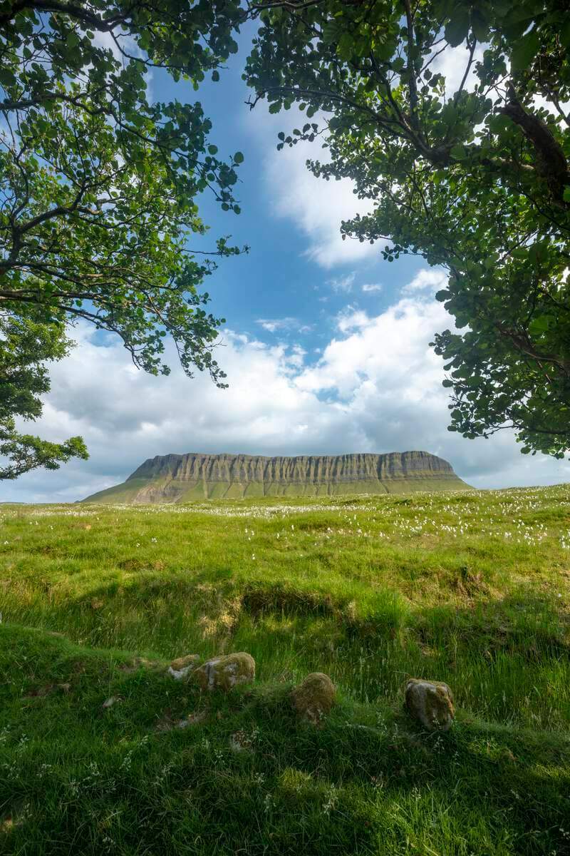Benbulben in County Silgo, Ireland.