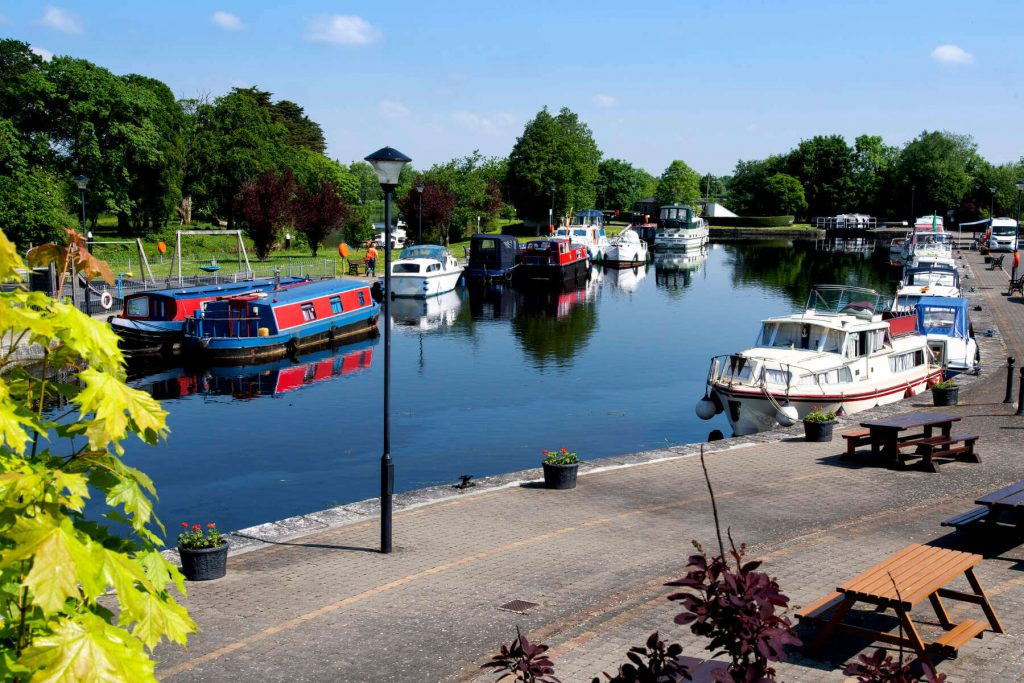 Inland harbour in County Longford, Ireland.