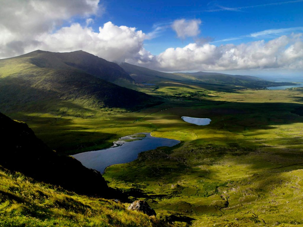 View from the Conor Pass, County Kerry, Ireland.