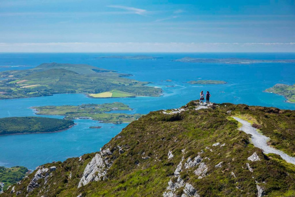 The view from Diamond Hill in Connemara National Park, Ireland