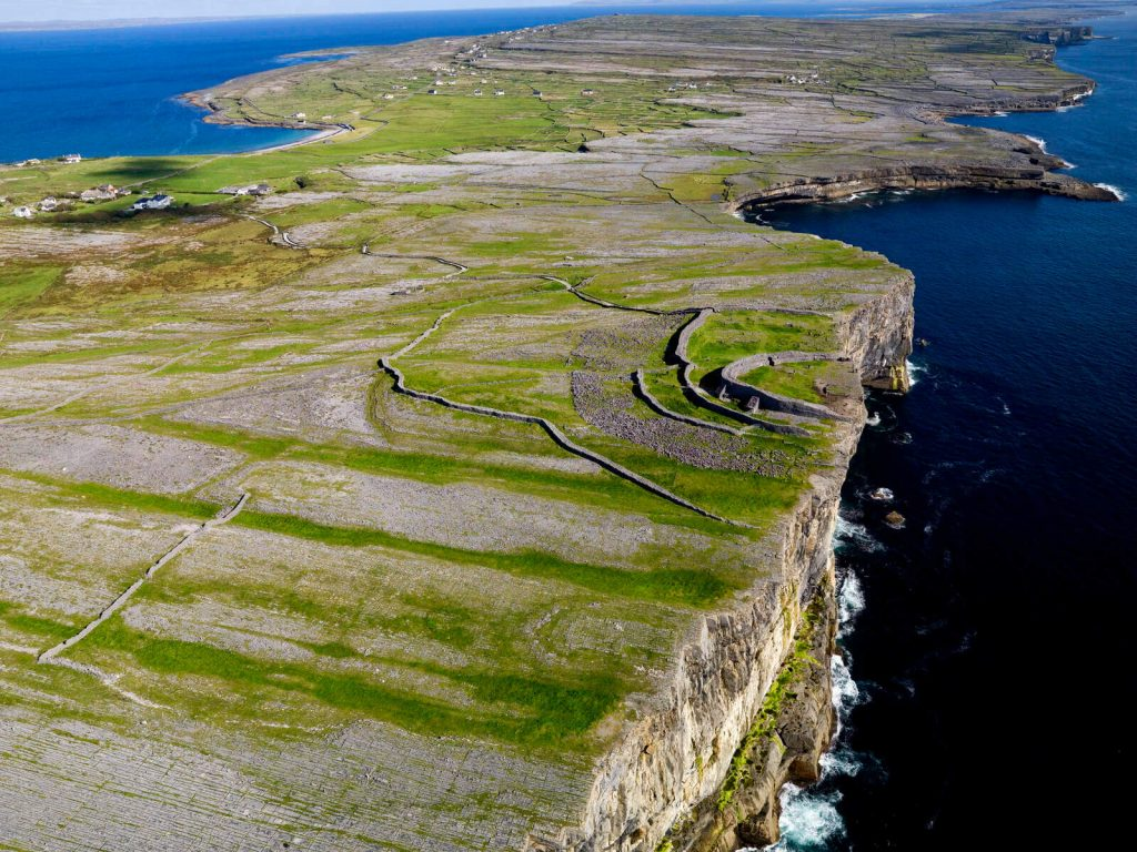 Cliff top fort of Dún Aonghasa on Inish Mór, Aran Islands, Ireland.