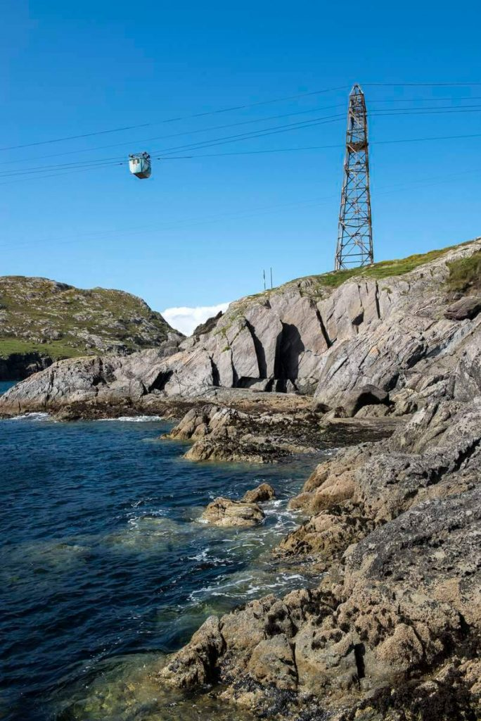 Cable car to Dursey Island, County Cork, Ireland.
